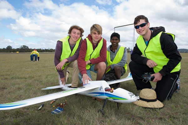 Students at the 2015 UAV Challenge