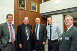 Mal Lane, Defence Industries Queensland; Ray Fry, Norship Marine; Scott Morrison, Teekay Shipping; Olav Groot, Norship Marine; Lindsay Pears, Defence Industries Queensland