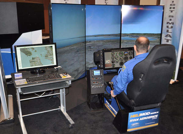 HELIMOD Mark II helicopter simulator control system