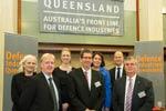 The Defence Industries Queensland team: Jo Trienen, Steve Rowson, Emily McAuliffe, Mal Lane, Rita Borzelleca, Lucien Whitten, Lindsay Pears