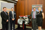 Thomas Wechselberger, Defence Industries Queensland; Rob McIntyre, Steyr Motors; Mal Lane, Defence Industries Queensland; Bernadette McIntyre, Steyr Motors